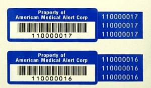 Multi-part Polyester barcode asset label
