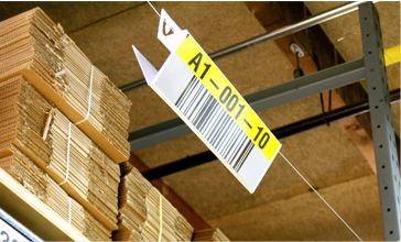 Hanging Placard barcode Location Label
