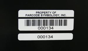 Two-part Polyester barcode asset label